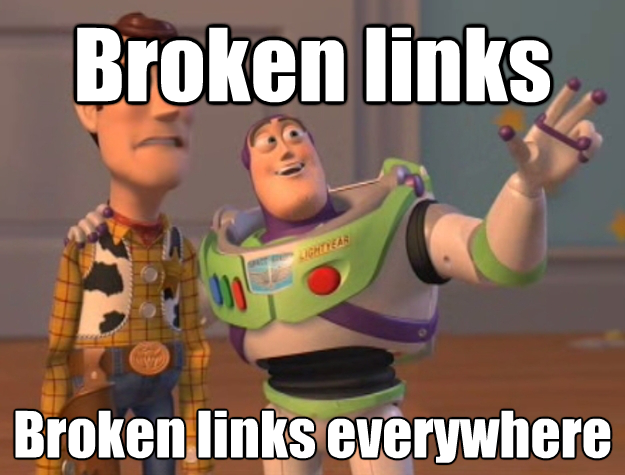 Broken links everywhere